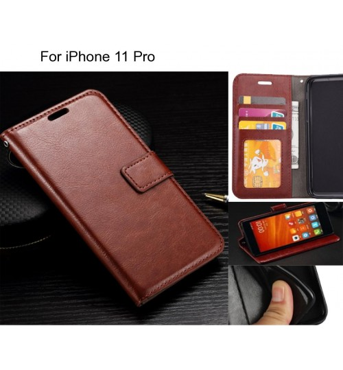 iPhone 11 Pro case Fine leather wallet case