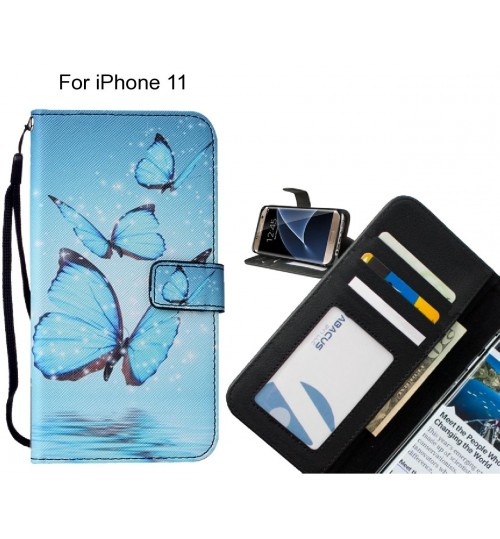iPhone 11 case leather wallet case printed ID