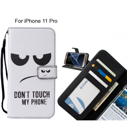 iPhone 11 Pro case leather wallet case printed ID