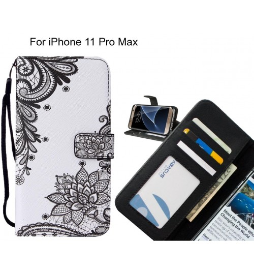 iPhone 11 Pro Max case leather wallet case printed ID