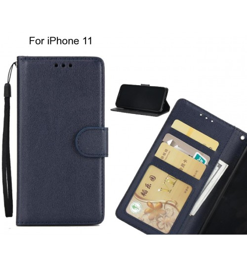 iPhone 11  case Silk Texture Leather Wallet Case