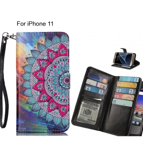 iPhone 11 case Multifunction wallet leather case