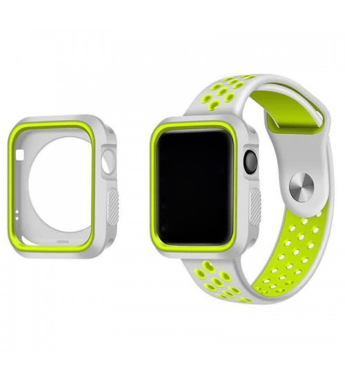 Apple watch iwatch Case Cover gen 42mm Protective Gel Silikon Bumper S3/2/1