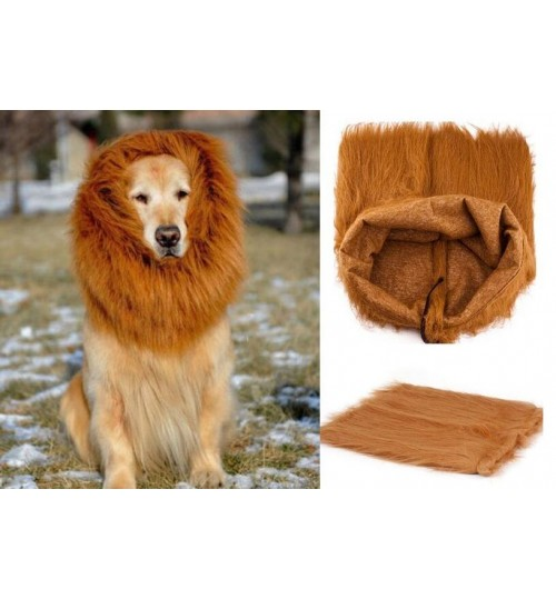 Pet Dog Costume Fancy Dress Up Wig - LION