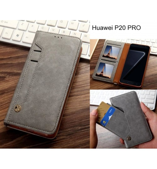 Huawei P20 PRO case flip leather wallet case 6 card slots