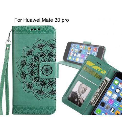 Huawei Mate 30 pro Case mandala embossed leather wallet case