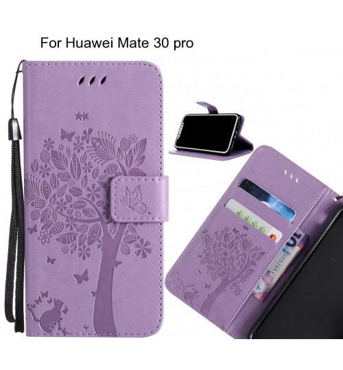 Huawei Mate 30 pro case leather wallet case embossed pattern