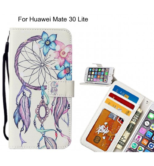 Huawei Mate 30 Lite case leather wallet case printed ID