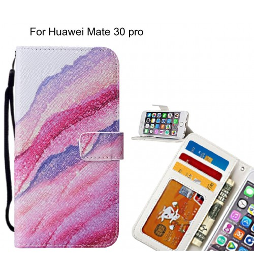 Huawei Mate 30 pro case leather wallet case printed ID