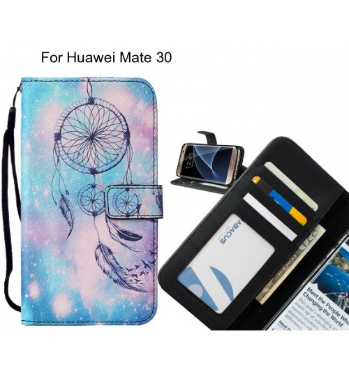 Huawei Mate 30 case leather wallet case printed ID