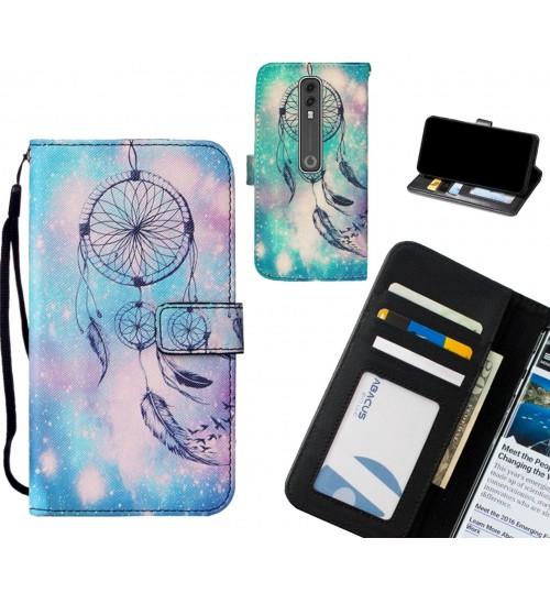 Vodafone V10 case leather wallet case printed ID