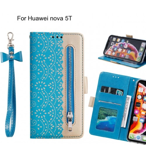 Huawei nova 5T Case multifunctional Wallet Case