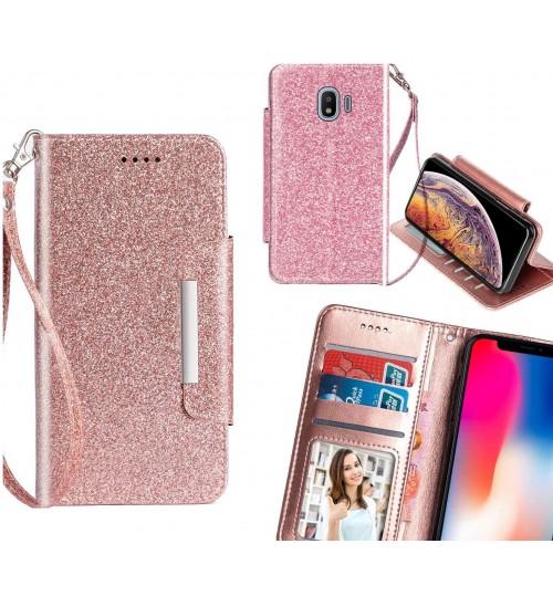 Galaxy J2 Pro Case Glitter wallet Case ID wide Magnetic Closure
