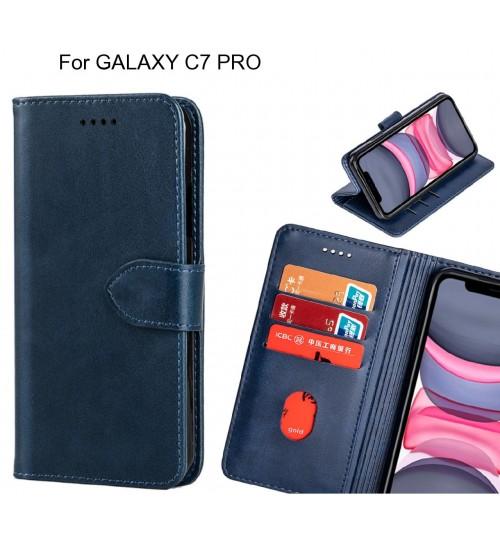 GALAXY C7 PRO Case Premium Leather ID Wallet Case