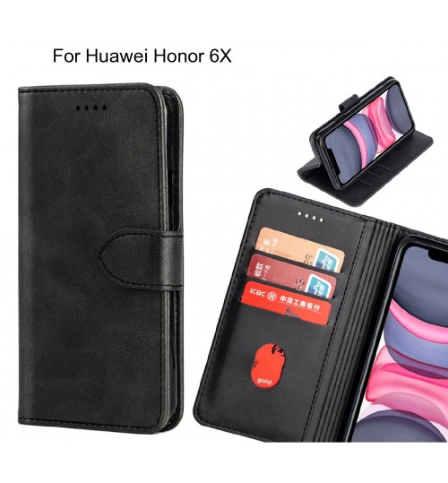 Huawei Honor 6X Case Premium Leather ID Wallet Case