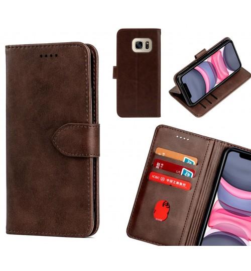 Galaxy S7 Case Premium Leather ID Wallet Case
