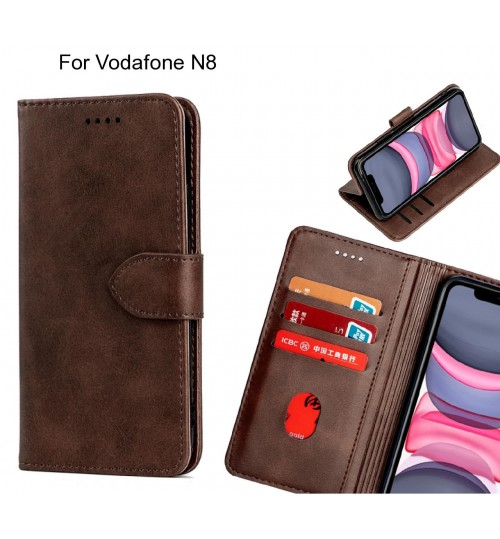 Vodafone N8 Case Premium Leather ID Wallet Case