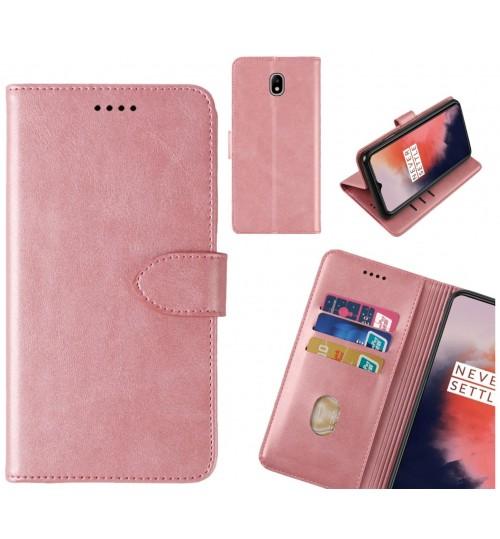 J7 PRO 2017 Case Premium Leather ID Wallet Case