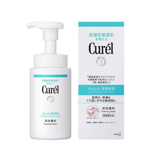 Curel Foam Facial Wash For Sensitive Dry Skin