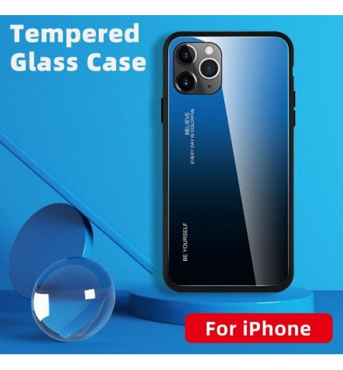 iPhone 11 Pro Max Changing Color tempered glass hard Case