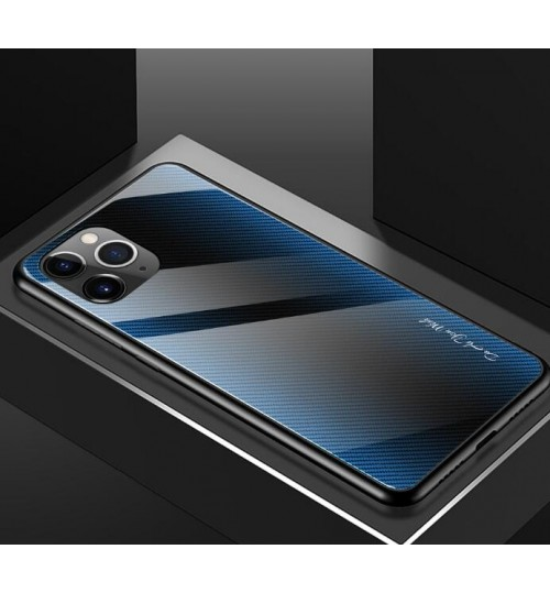 iPhone 11 Pro Max Case Hybrid Thin Hard Glass Back Shockproof Cover