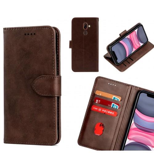 Nokia 7 plus Case Premium Leather ID Wallet Case