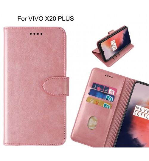 VIVO X20 PLUS Case Premium Leather ID Wallet Case