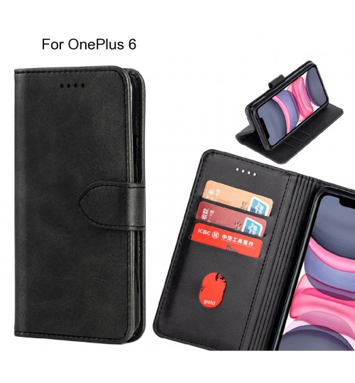 OnePlus 6 Case Premium Leather ID Wallet Case
