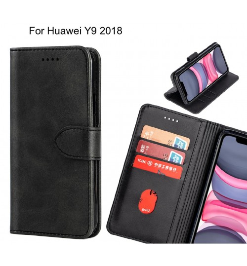 Huawei Y9 2018 Case Premium Leather ID Wallet Case