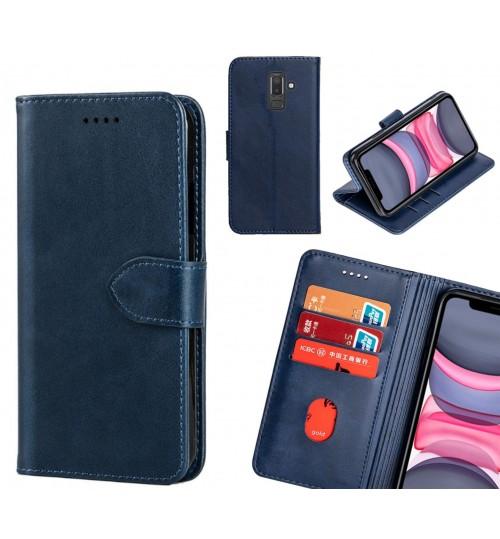 Galaxy J8 Case Premium Leather ID Wallet Case