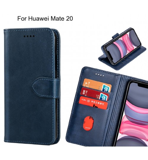 Huawei Mate 20 Case Premium Leather ID Wallet Case
