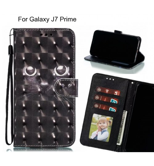 Galaxy J7 Prime Case Leather Wallet Case 3D Pattern Printed