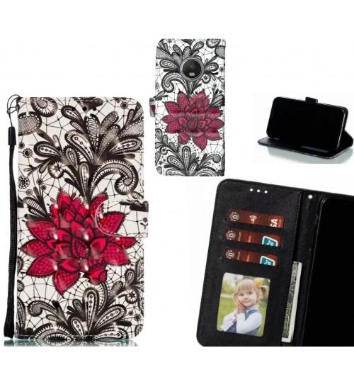 MOTO G5 PLUS Case Leather Wallet Case 3D Pattern Printed