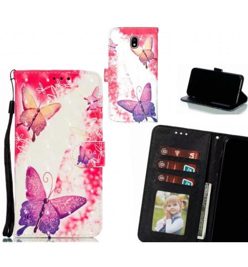 J7 PRO 2017 Case Leather Wallet Case 3D Pattern Printed