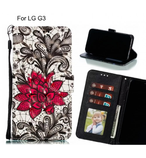 LG G3 Case Leather Wallet Case 3D Pattern Printed