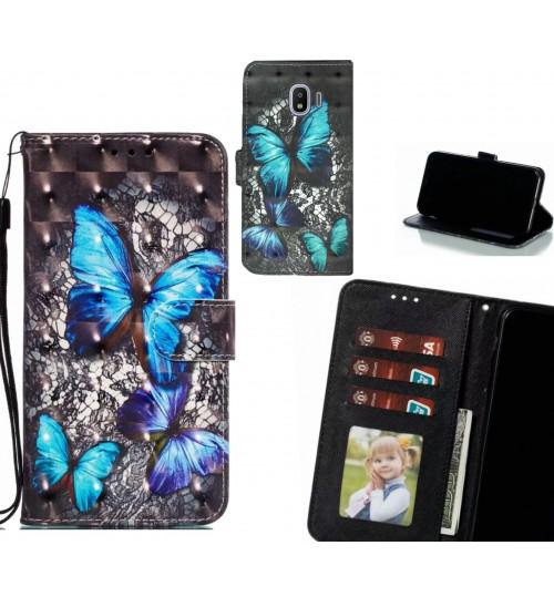 Galaxy J2 Pro Case Leather Wallet Case 3D Pattern Printed
