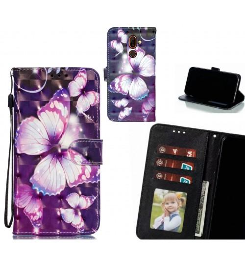 Nokia 7 plus Case Leather Wallet Case 3D Pattern Printed