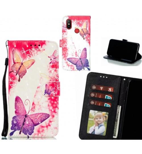 Xiaomi Mi 6X Case Leather Wallet Case 3D Pattern Printed