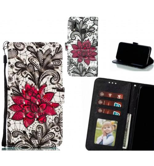 Huawei nova 3e Case Leather Wallet Case 3D Pattern Printed