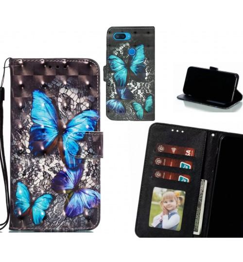 XiaoMi Mi 8 lite Case Leather Wallet Case 3D Pattern Printed