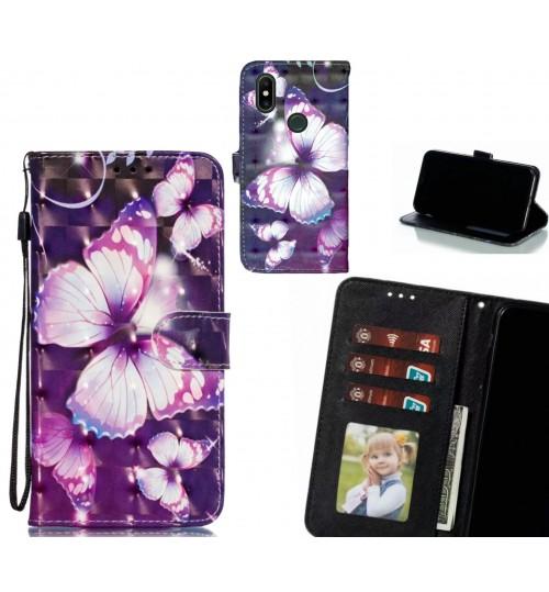 Xiaomi Mi Mix 2S Case Leather Wallet Case 3D Pattern Printed
