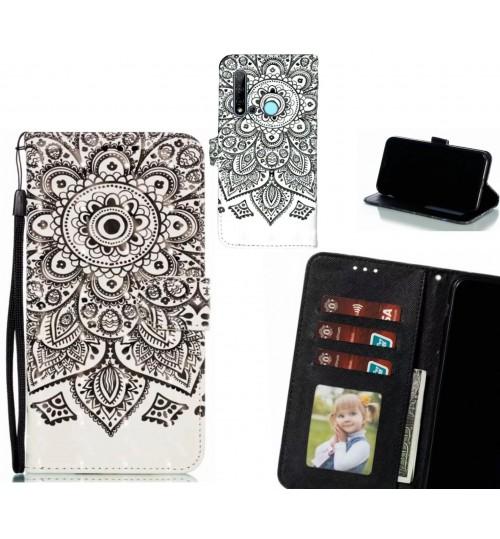 Huawei nova 5i Case Leather Wallet Case 3D Pattern Printed