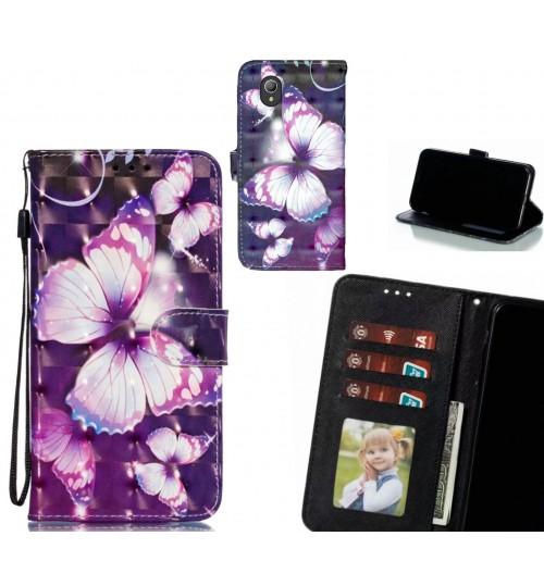 Vodafone E9 Case Leather Wallet Case 3D Pattern Printed