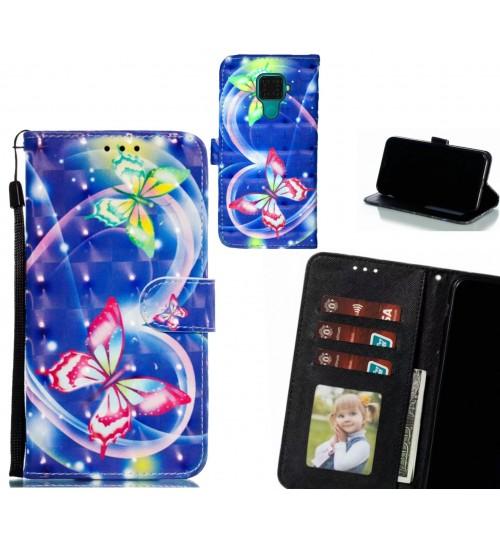 Huawei nova 5i Pro Case Leather Wallet Case 3D Pattern Printed
