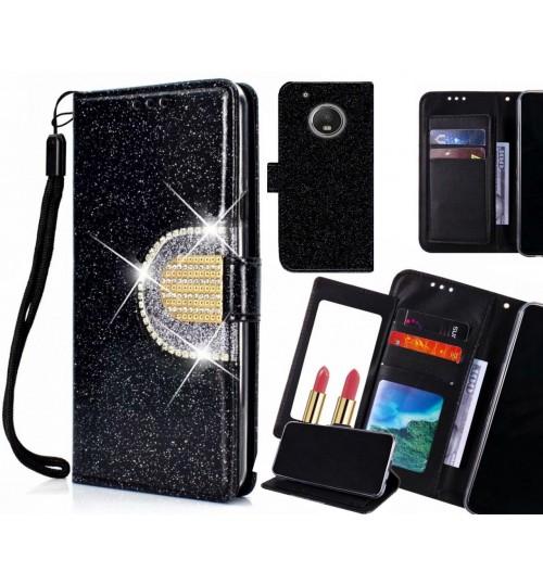 MOTO G5 PLUS Case Glaring Wallet Leather Case With Mirror
