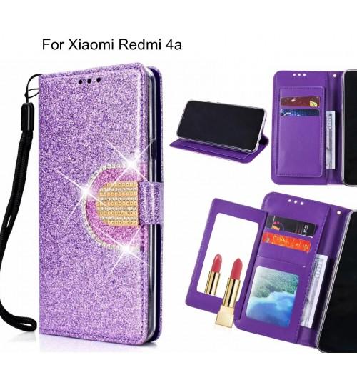 Xiaomi Redmi 4a Case Glaring Wallet Leather Case With Mirror