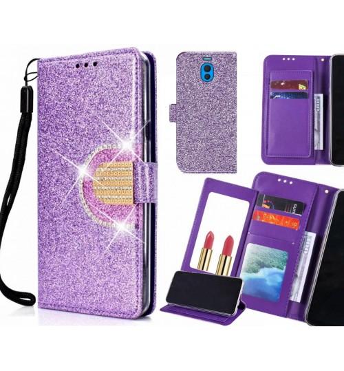Meizu M6 Note Case Glaring Wallet Leather Case With Mirror