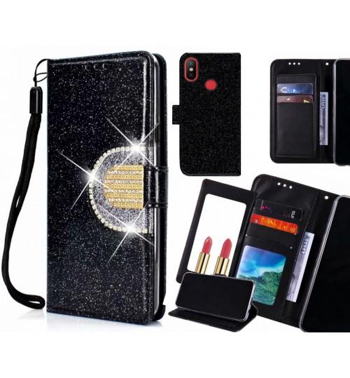 Xiaomi Mi 6X Case Glaring Wallet Leather Case With Mirror