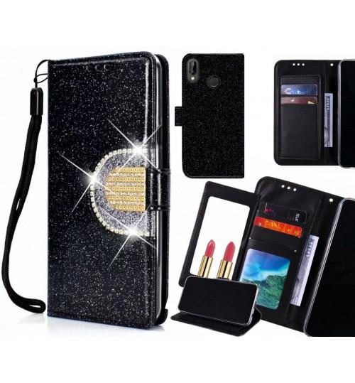 Huawei nova 3e Case Glaring Wallet Leather Case With Mirror