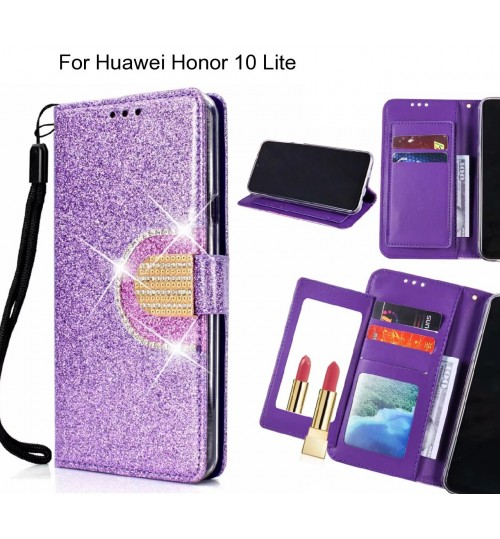 Huawei Honor 10 Lite Case Glaring Wallet Leather Case With Mirror